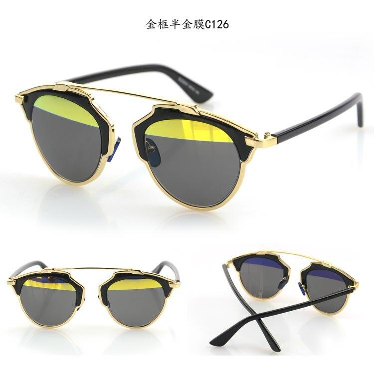 glasses fashion 2015  Online Shop 2015 New Vintage Metal frame Cat Eye Sunglasses ...