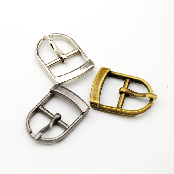 Wholesale Free shipping 25pcs/lot small metal <font><b>15mm</b></font> shoe <font><b>buckle</b></font> with pin high polished nickle / black nickle <font><b>buckle</b></font> BK-004 image