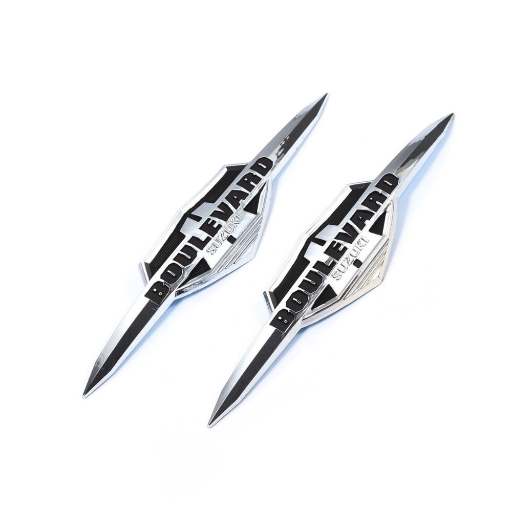 Chrome ABS Plastic Motorcycle Gas Tank Emblem Sticker