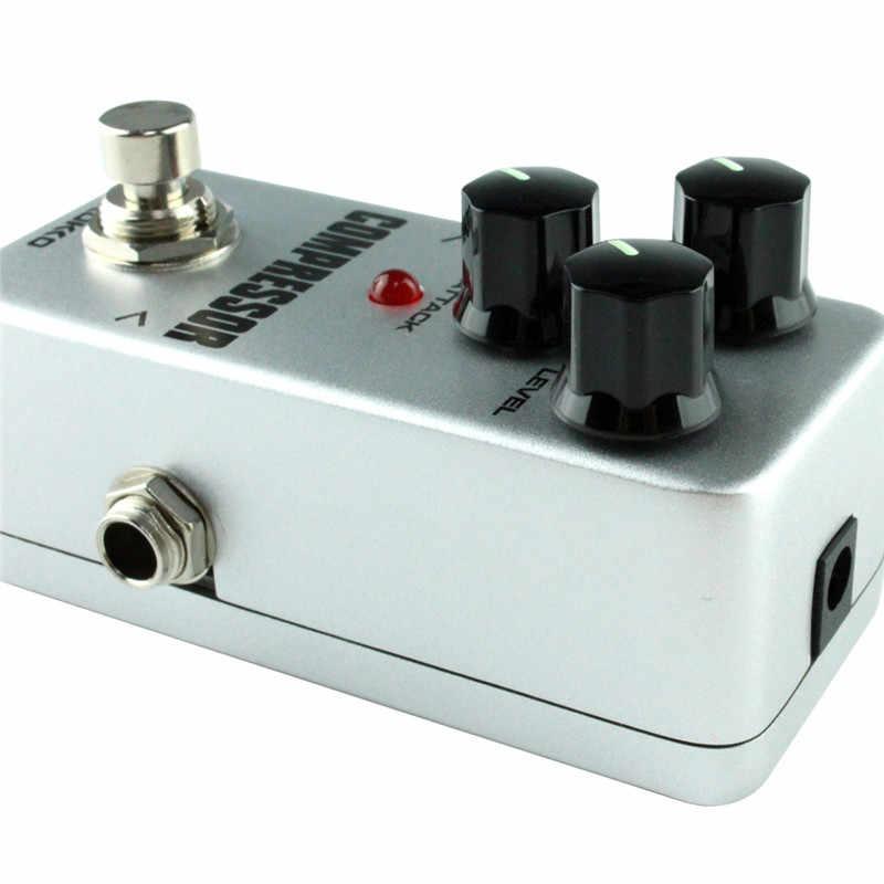 Gitar Pedalı Etkisi Kompresörü Mini Elektrik Bas Gitar Efektleri Gerçek Bypass Müzik aletleri Yüksek Kaliteli