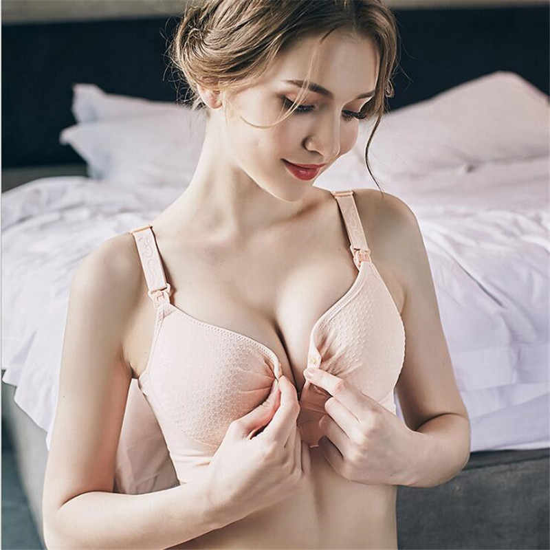 2717614a9e6f9 Hot Front Button Breastfeeding Bra Maternity Nursing Bra Pregnancy  Underwear Clothing for Pregnant Women Breast Feeding