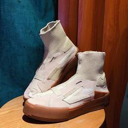 Новинка 2019, модные женские ботинки из искусственной кожи, зимние ботинки без застежки, ботильоны из искусственной кожи, mujer, XWD6932