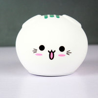 New cat LED children's night light baby child bedside lamp multicolor silicone children's birthday gift bedroom lamp