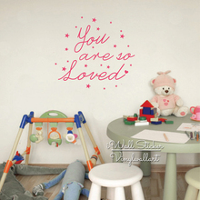 You Are So Loved Quote Wall Stickers Baby Nursery Love Decal Lettering Children Room Decor Cut Vinyl Q270