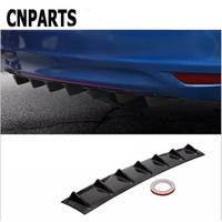CNPARTS For Citroen C5 C4 C3 Mini Cooper Opel Astra H G J Vectra C Saab Car Rear Bumper 3D Cool Shark Spoiler Stickers