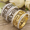 Gold color and Silver color Hot Wholesale Newest Fashion Jewelry stainless steel rings for women RBJDKMBD