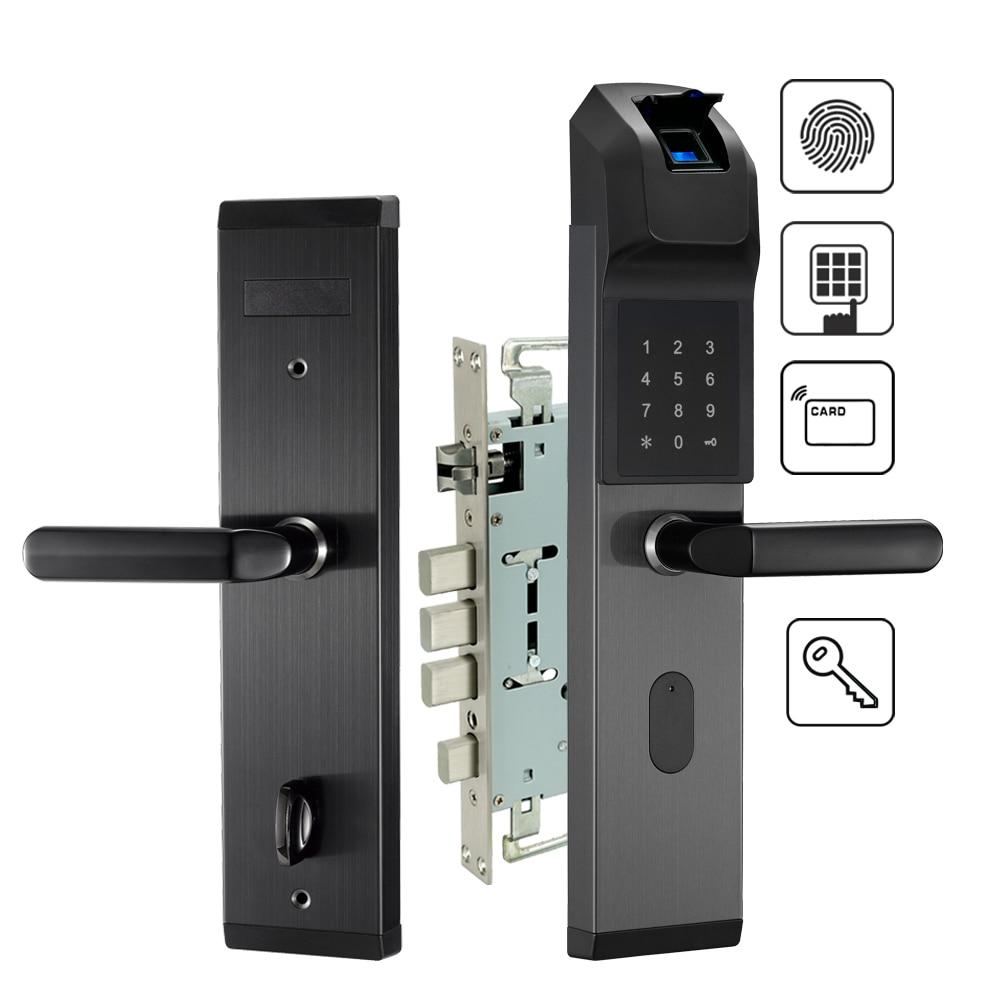 100% Wahr Elektronische Biometrische Fingerprint Türschloss Keyless Digitale Türschloss Für Smart Home Anti-theft Intelligente Sperre Die Neueste Mode