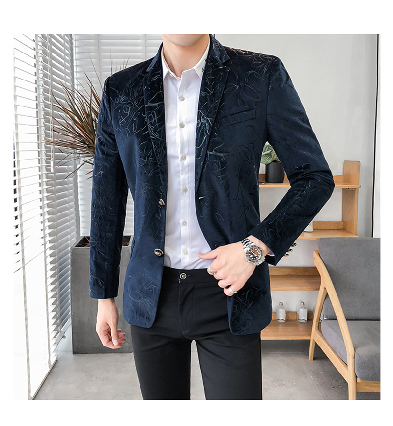 Blazer Masculino Slim Fit Casual Blazers Men Suits Wedding Blazer For Men (1)
