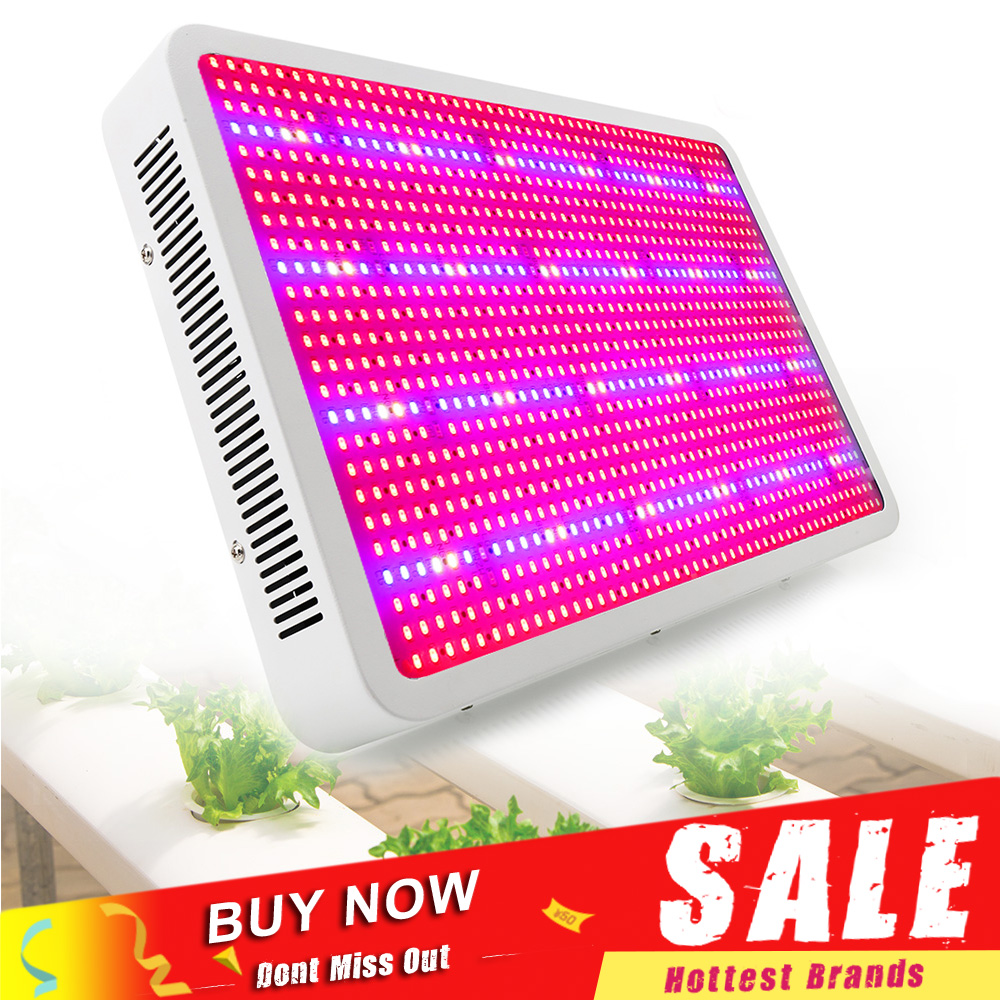 Full Spectrum 1200W LED Grow Light Phytolamp Growing Lamp untuk Tumbuhan Dalaman Hydroponics Growth Flowering Greenhouse Grow Tent