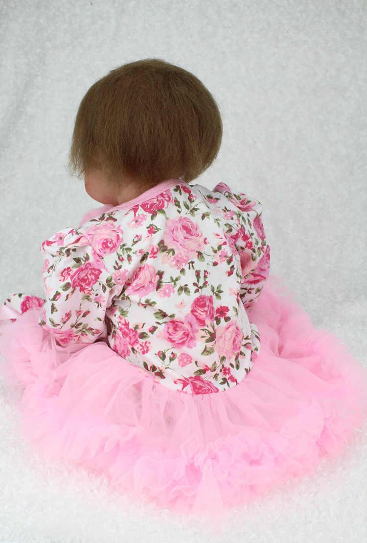 Réaliste vivant Bebe Silicone Reborn poupées 22 pouces charmante Collection vinyle Silicone princesse poupée réaliste Menina bambin jouets