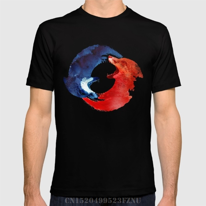 Spring On Sale t shirts mens Ying yang Short Print Cotton funny tees homme Clothing