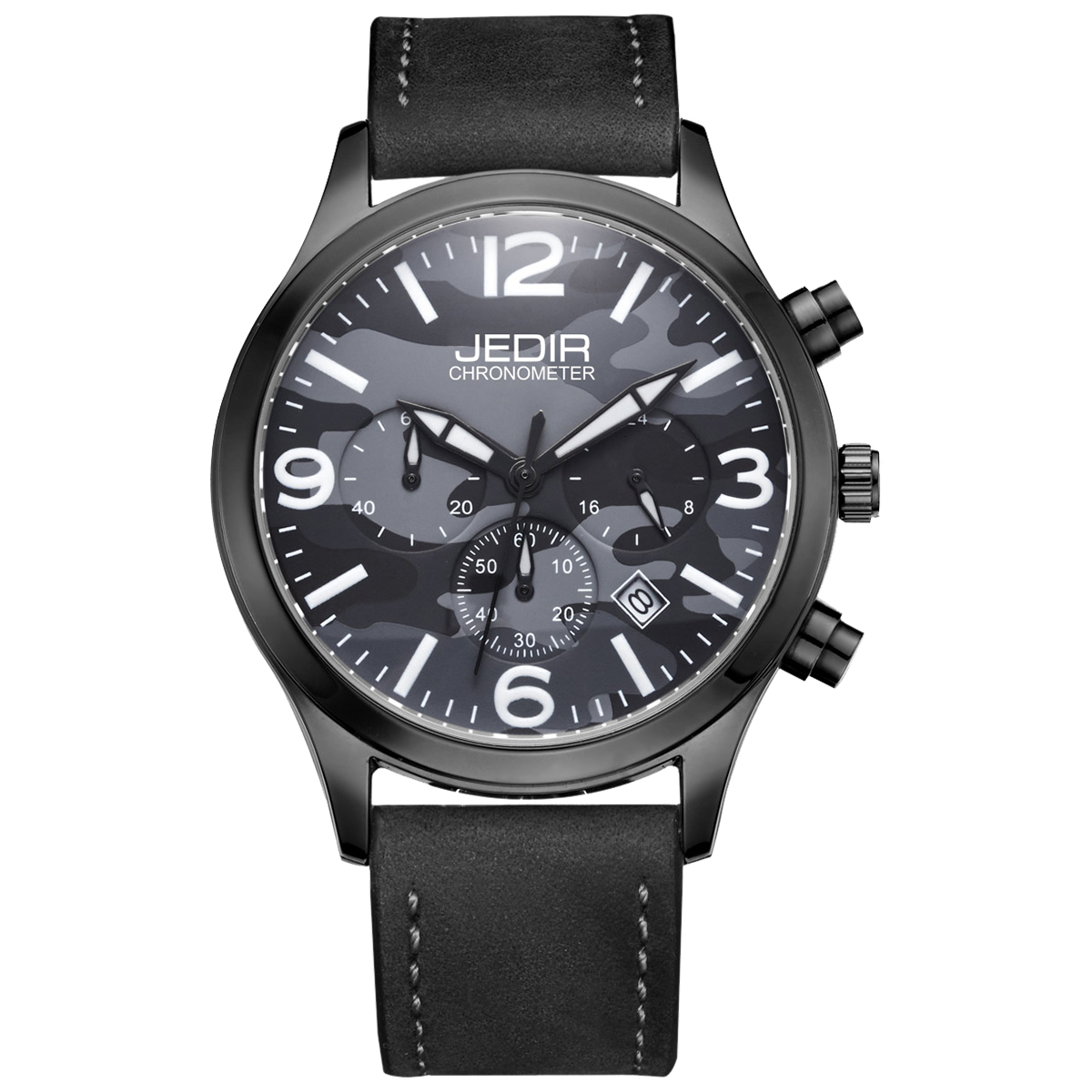 JEDIR Camouflage Dial Fashion Quartz Men Watch Multifunction Sub Dials Calendar Hardlex Wrist Watch Waterproof Mens Colck купить
