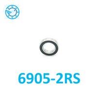 Бесплатная доставка 6905 2RS 25*42*9 мм Si3N4 шары Гибридный Керамический шарикоподшипник 61905 6905rs 61905 2RS 25x42x9 мм для велосипеда HUB части