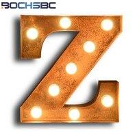 BOCHSBC E27 лампы Письмо Z Настенные светильники Винтаж светодиодные лампы фон декоративные металлические бра для Гостиная Спальня Книги по иск