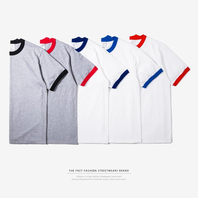 INFLATION Package 2018 Men Hiphop Plain Color T-shi