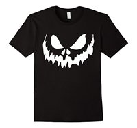 Scary Face Halloween Tshirt Jack O Lantern Shirt Pumpkin Printed T Shirts Men Cotton Tee Shirts