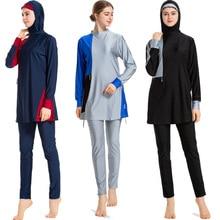 2019 New Women Islamic Swimsuit Woman Muslim Swimwear Beach Bathing Quick Drying Suit Muslimah Swim Surf Wear Sports S-6XL