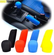 2 piezas de pomo de palanca de cambios de silicona Manual de coche, cubierta de perilla de freno de mano, cubiertas de freno de mano, funda, Protector de piel, estilo de coche