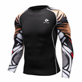 Compression Sportswear Mens Fitness Crossfit Tight Skin Shirts Long Sleeves 3D Prints Brand Male Breathable Tops & T-Shirts