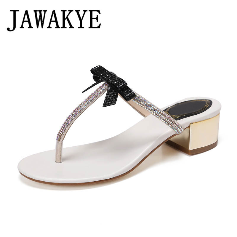 4fc662c02ab Sandals JAWAKYE Summer Women Shoes Flat Shoes Sandalias Woman mujer heels  Low Bowtie Ladies Fashion Flats ...