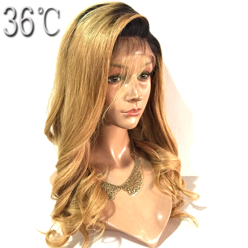 36C Body Wave Full Lace Wig Peruvian Remy Hair 150 Density Ombre Color Side Part 12-30 Inches Human Hair Wig for Black Women ...