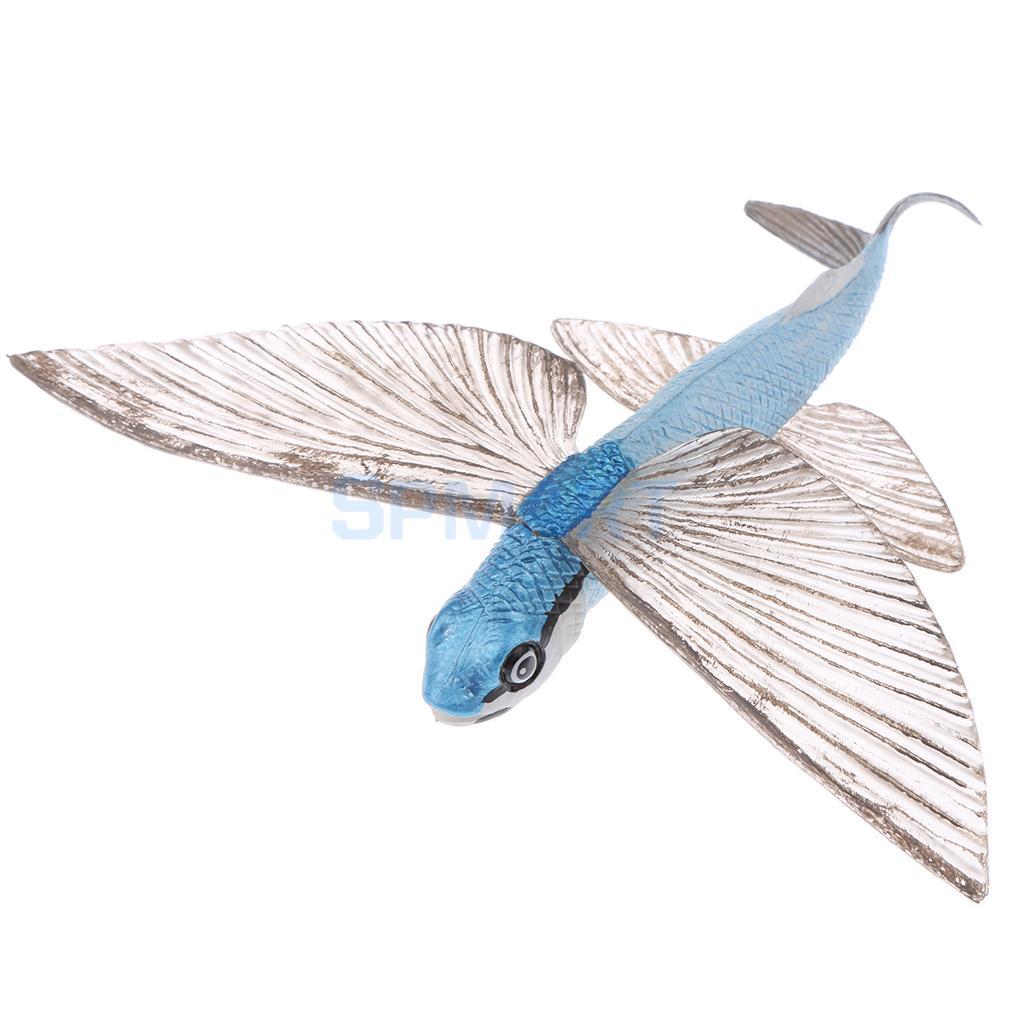 Figura de animales de juguete para niños, peces voladores de mar, modelo de animales, Figura de plástico salvaje realista, Chico, desarrollo Animal, parque infantil de juguete