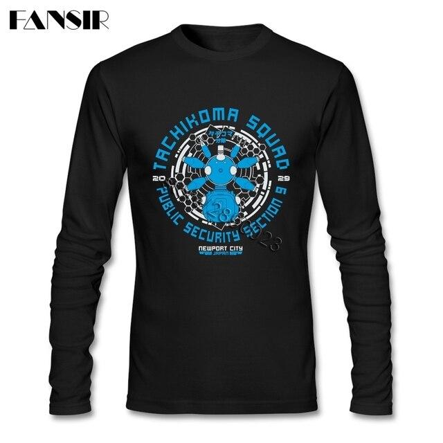 Beste Design T-shirt Für Männer Tachikoma Squad Ghost In Die Schale Langarm-rundhals Baumwolle T-shirts Vaporwave