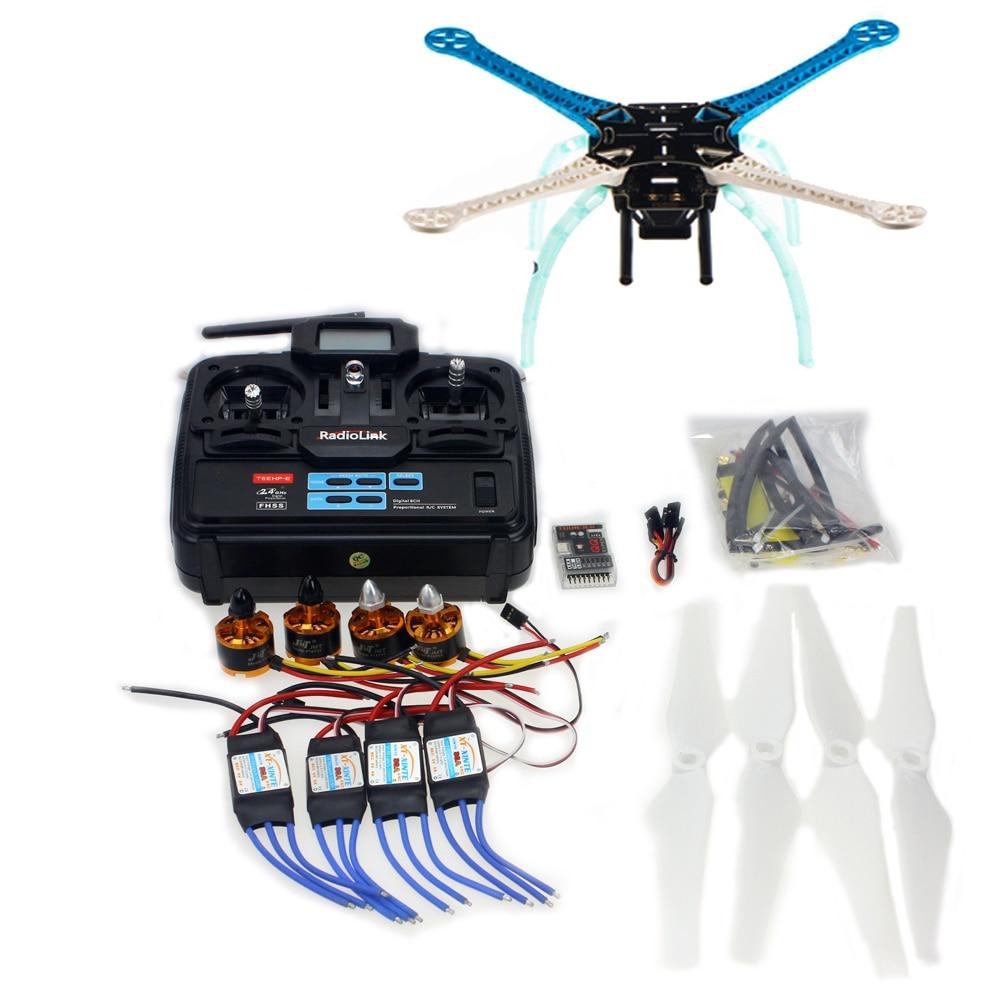 Bricolage Drone QQ contrôleur Version S500-PCB multi-rotor cadre Kit Radiolink T6EHP-E 2.4G TX & RX moteur ESC F08191-J
