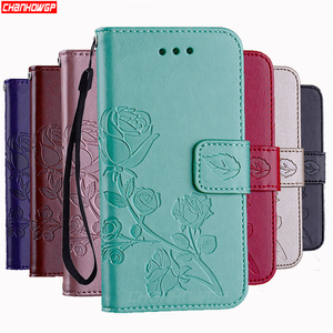 3D Flower Leather Case For Apple iPhone 11 Pro XS Max XR X Flip Wallet Cover For iPhone 5 5s SE 6 6s 7 8 plus x 10 Funda Coque(China)