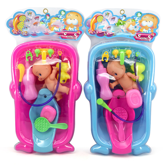 US $9 07 20% OFF 1 Set bathed Toy Children DIY Pretend bathe Role Play  parent child interaction Toy Kids Educational Toys for Children gift-in