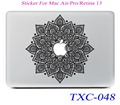 NEW Classical Flowers Laptop Skin Sticker Decal For Macbook Air Pro Retina 13 Mac book 13.3 inch (TXC-048)