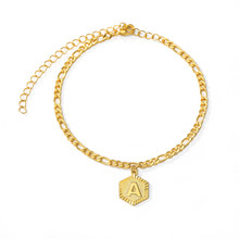 Gold Color A-S Letters Ankle Bracelet Men Women Jewelry Stainless Steel Chain Initial Bracelet Leg Accesorios Mujer(China)