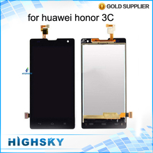 Black 1 Piece Free Shipping 5 inch Display For Huawei Honor 3C LCD G740 H30-U10 3G Version Screen With touch Digitizer Complete