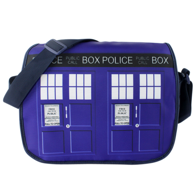 Doctor Who Inclined shoulder bag movies The police office Bag, Color map Inclined shoulder bag Phone booth Bag schoolbag