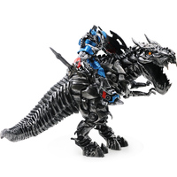 Transformation Movie 5 Optimus OP Tyrannosaurus Rex Statue Hand Dinosaur Model PVC Action for Kid doll children gift
