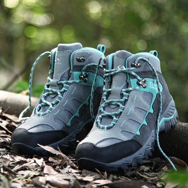 Clorts Women Climbing Shoes Outdoor Boots Suede Leather Hiking Boots Waterproof Non-Slip Women Trekking Shoes HKM-823E/F