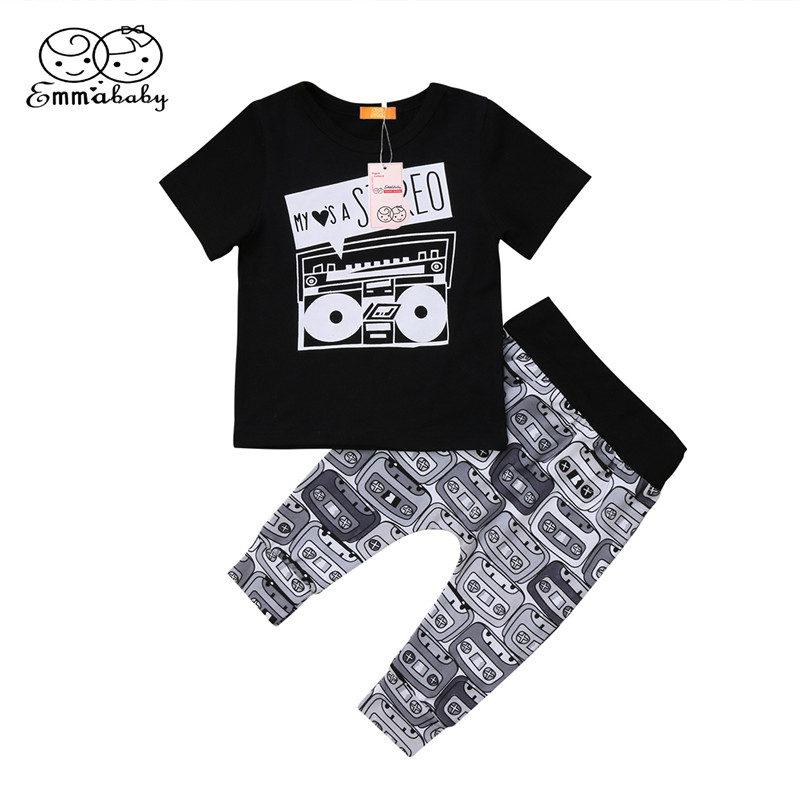 Summer Baby Clothing 2018 Casual Newborn Baby Boys Girls Short Sleeve Tops T-shirt+Pants 2pcs Hot Sale Bebes Kids Clothes Outfit