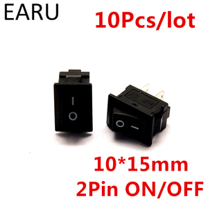 10pcs/lot G130 10*15mm SPST 2PIN ON/OFF Boat Rocker Switch 3A/250V for Auto Car Dash Dashboard Truck RV ATV Home Model KCD1(China)