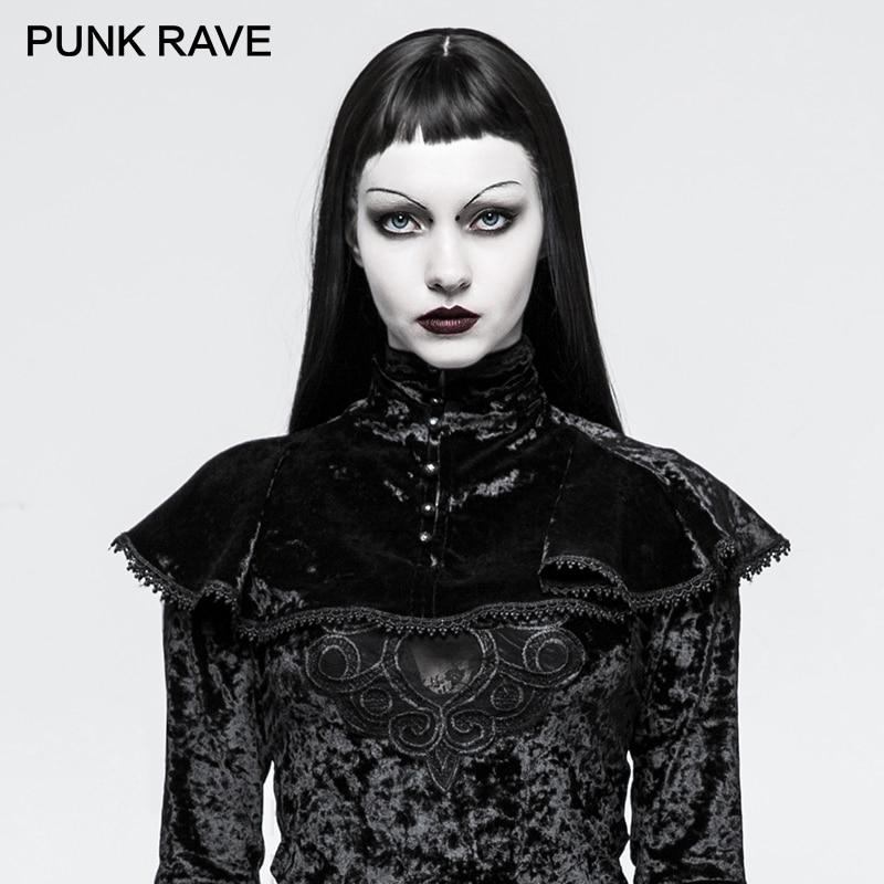 PUNK RAVE Ladies Costumes Gothic Cemetery Black Velvet Cape   Scarves     Wraps   Poncho Stole Winter