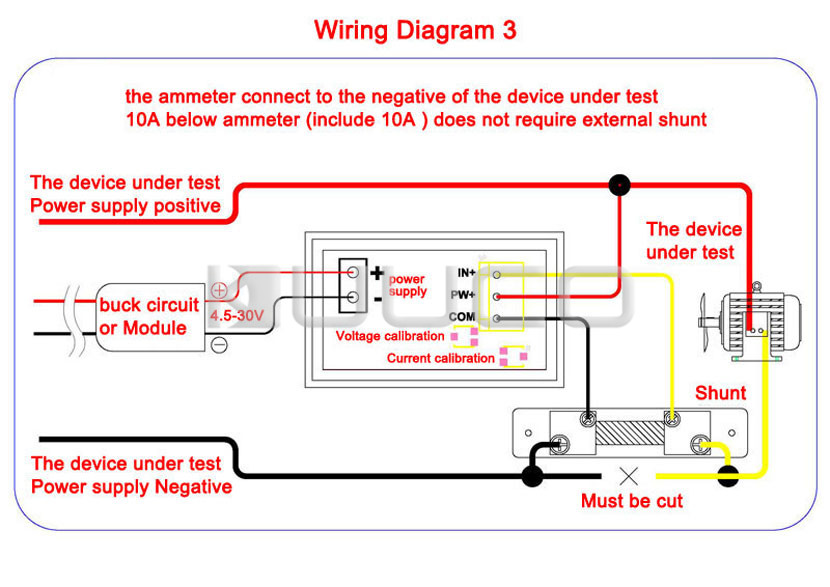HTB1YjssPpXXXXXeXVXXq6xXFXXXT digital voltmeter ammeter dc 0 ~100v 10a voltage current meter dc ammeter shunt wiring diagram at virtualis.co