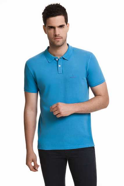 Javier Larrainzar Casual Polo Pique Men JL0000288 Blue