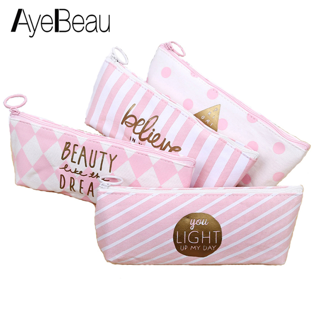 Cute Necessarie Pencil Pen Case Brush Anime Pouch Beauty Necesser Vanity Purse For Girl Women Makeup Cosmetic Make Up Bag In Bag