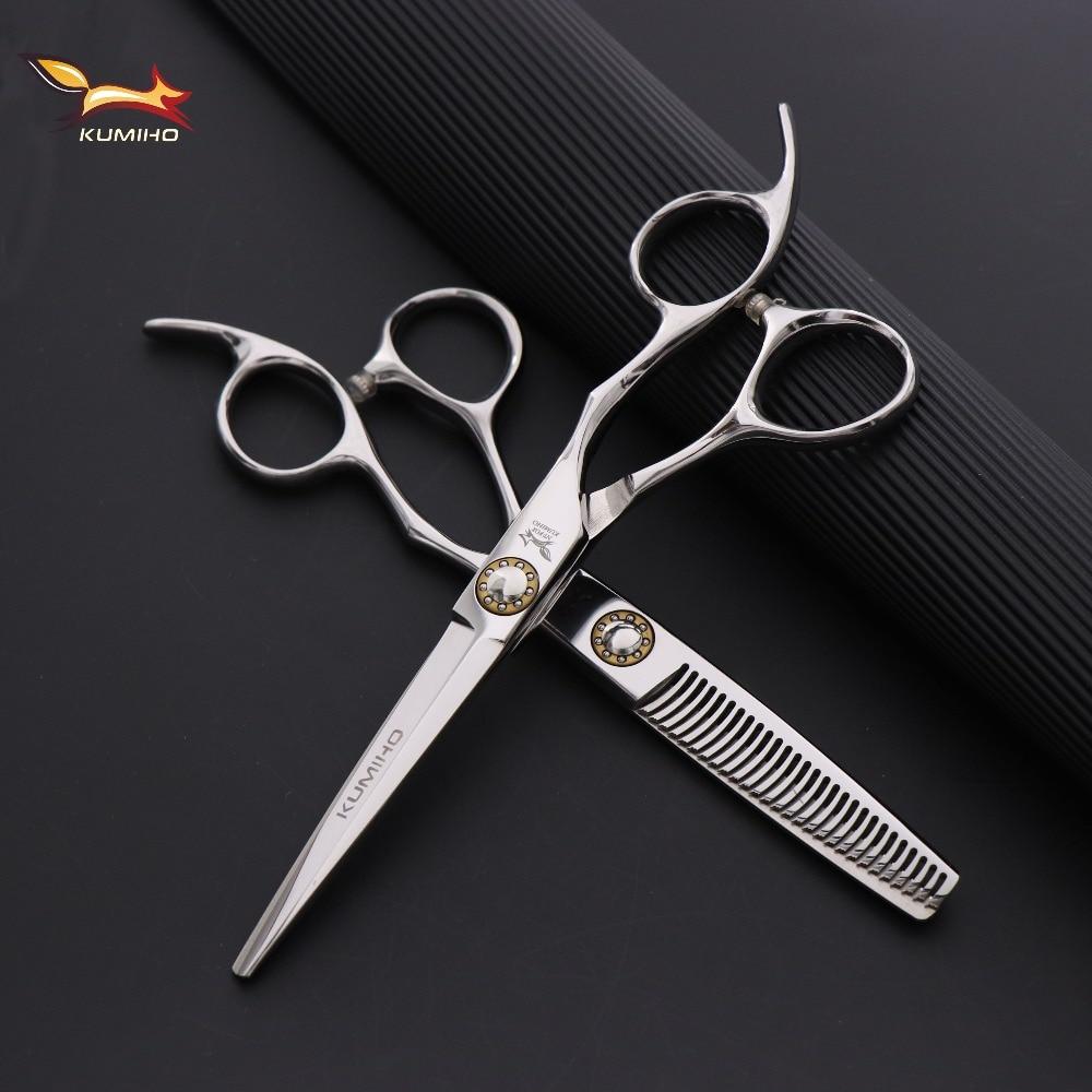 KUMIHO японские ножницы для волос Профессиональные Парикмахерские ножницы с большим подшипником винтовые ножницы для стрижки и истончения во...