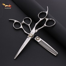 KUMIHO Japanese hair scissors professional hairdressing with big bearing screw cutting and thinning hot