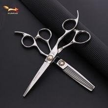 Kumiho japonês tesoura de cabelo profissional cabeleireiro tesoura com rolamento grande parafuso corte cabelo e desbaste tesoura quente