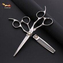 KUMIHO japońskie nożyczki do włosów profesjonalne nożyczki fryzjerskie z dużym łożyskiem śruba ścinanie włosów i przerzedzenie nożyczek hot