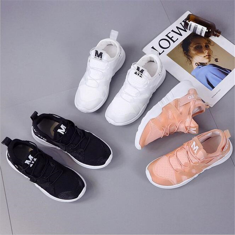 Women Shoes 2018 fashion lace up comfortable shoes woman breathable mesh women sneakers tenis feminino ladies shoes size 35 40 in Women 39 s Vulcanize Shoes from Shoes