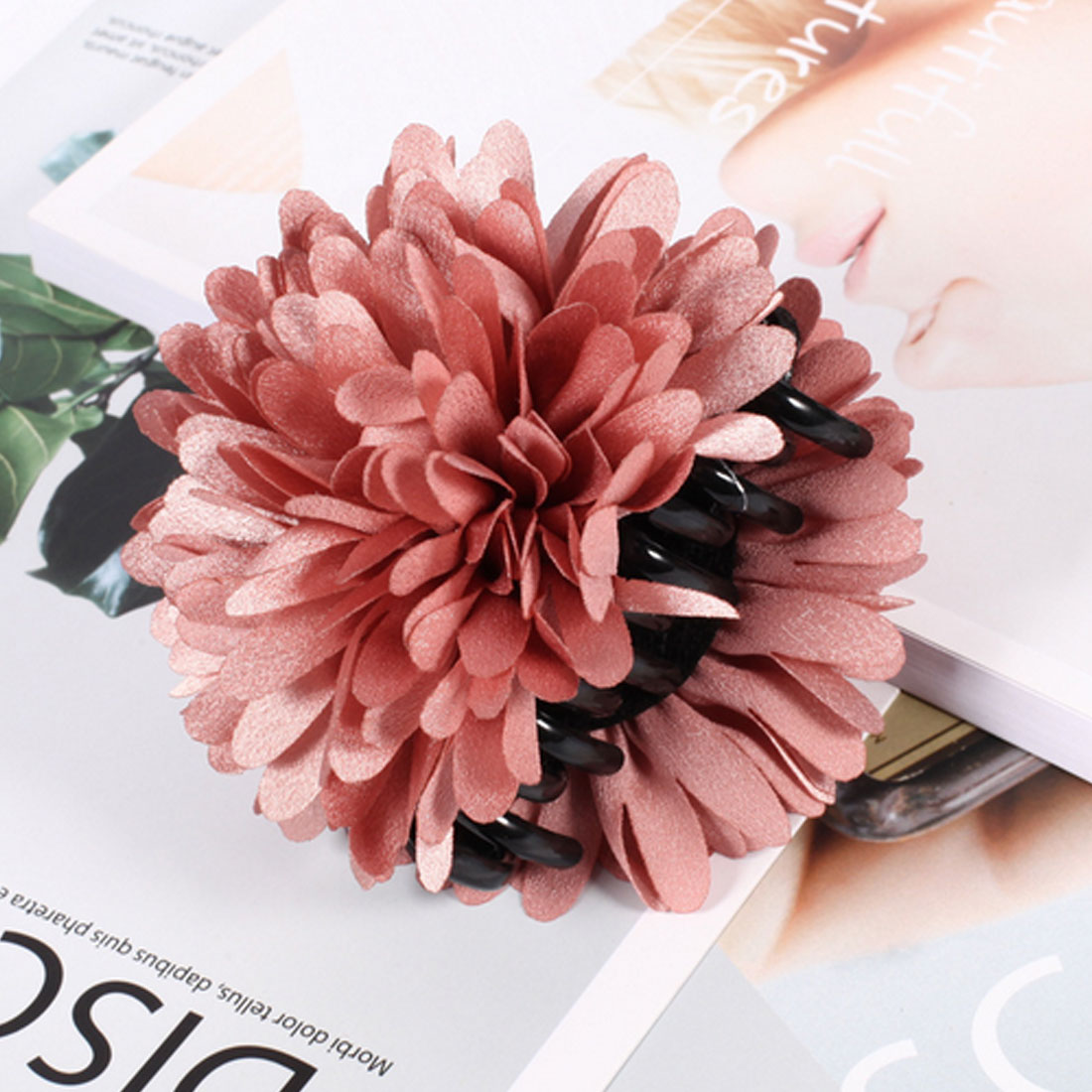 2018 top sell large hair claw flower
