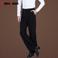 Black Satin Ribbon On Side Men's Latin Pants Mens modern Ballroom Dance Pants Latin Dance Pants Men Men's trousers