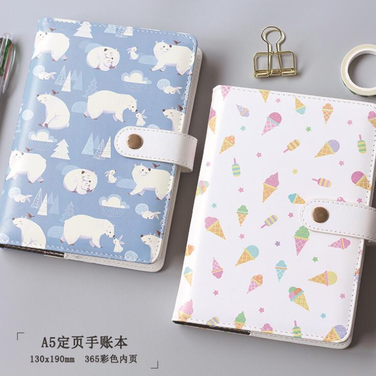 A5 Colorful Polar Bear Ice Cream Hardcover Notebook Diary Pocket Notepad Promotional Gift Stationery подгузники polar bear canada 31